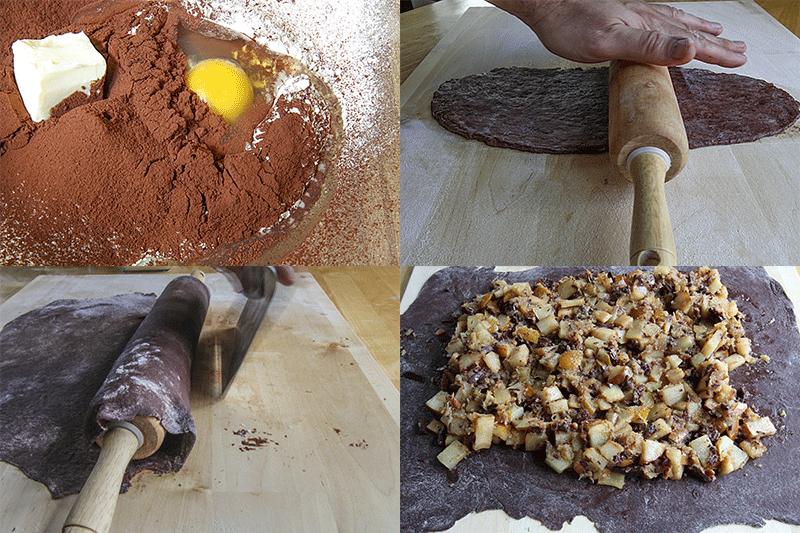 ingredienti impasto per lo strudel al cacao