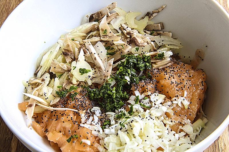 ingredienti per tartare di salmone