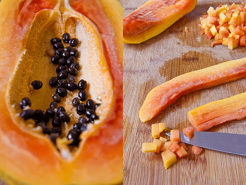 Papaya a dadini