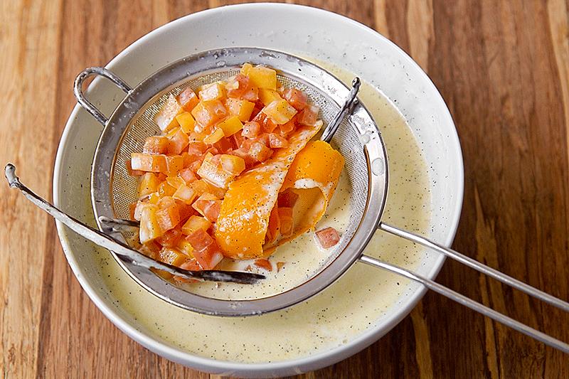 composto filtrato per crème brulée alla papaya