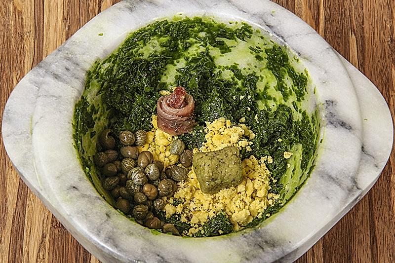 pesto di prezzemolo al wasabi