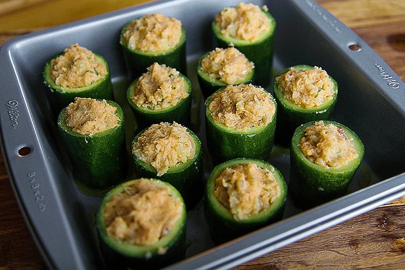 zucchine ripiene in forno