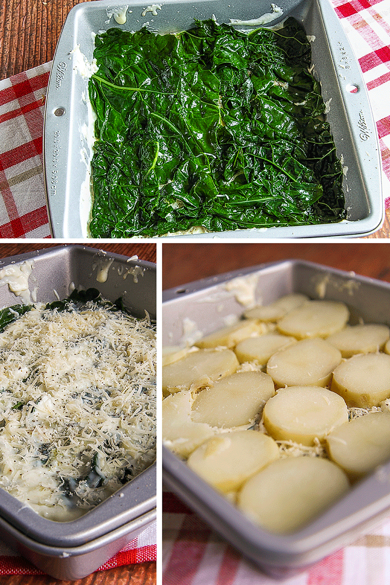 sformato vegetariano cavolo nero e patate
