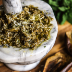 eggplant pesto with mint and garlic