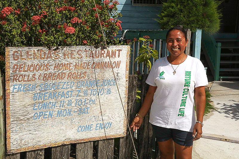 glenda's breakfast Caye Caulker Belize