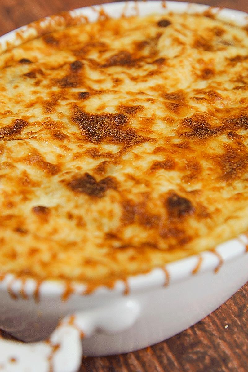 sformato di cavoletti di bruxelles con patate e pancetta