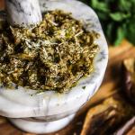 eggplant pesto with mint and garlic